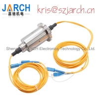 Buy cheap 2 Channels Rotating Electrical Connector fiber optic rotary joint Slip Ring from wholesalers