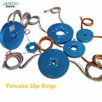 Slip ring electrical pancake Slip rings motor assembly with through bore size 12.7 mm Manufactures