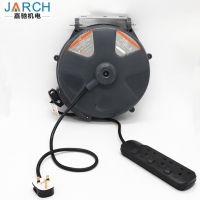 Retractable mini small empty plastic hose reel automatic extension power cord cable reel drum Manufactures