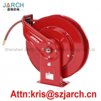 Metal hose reel wall mounted cable reel garden automatic retractable water air hose and reel set Manufactures