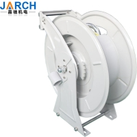 Retractable hydraulic auto spring rewind oil hose reel diesel fuel truck hose reel Manufactures