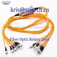 FORJ sm/mm mode of single channel optical cable slip ring multi 2 4 6 fiber optic rotary joint slip ring manufacturer Manufactures