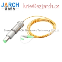 High Speed 1 Channel Fiber Optics Rotary Joints with SC ST LC Connector Fiber Optical Slip Ring Manufactures
