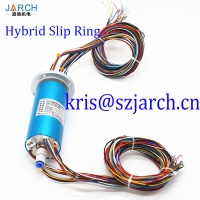 Hybrid FORJ multimode electrical slip ring with fiber optic rotating joint for ROV robot Manufactures