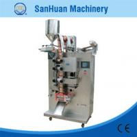 Cheap Vinegar / Cream Φ300mm Four Side Sealing Packing Machine With Horizontal Stroke Pump for sale