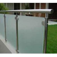 Frosted Deck Railing Glass Panels , Glass Railings Outdoor Safety Manufactures