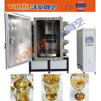 Gold Color Glass Cups Vacuum PVD Plating Machine on Crystal Manufactures