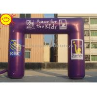 China Event Nylon Fabric Custom Purple Inflatable Race Arch With Banners 13ft - 50ft Wide on sale