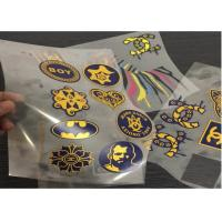 Hot Peel Matte/Glossy Printable Heat Transfer Polyester Film For Screen Printing Sportswear Tagless Heat Transfer Label Manufactures