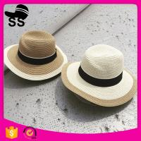 Trim 56-58cm Women Cheap Direct Factory Panama Customized 100% Polyester Visor Summer Straw hats for sale Manufactures