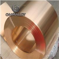 Mechanical Resistance Pure Copper Foil C11000 C1221 0.1mm - 1.2mm Thickness For Electric Springs Manufactures