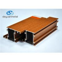 China Mill Finished / Wood Grain  Aluminum Profile For Doors And Windows 6063-T5 on sale