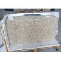 China Rustic Yellow Colored Granite Stone Slab Countertop For Kitchen Showroom on sale