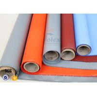 Plain Weave Thermal Insulation Materials Silicone Coated Fiberglass Fabric Manufactures