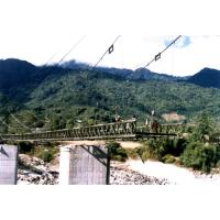 Large Span Steel Suspension Cable Stay Bridges With Rock Anchors Manufactures