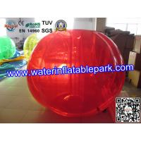 Entertainment  Body Zorbing Ball Apple Design ,  Colorful Inflatable Beach Ball Manufactures
