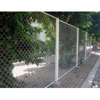 Garden Galvanized PVC Chain Link Fencing Thickness 1.5mm - 5mm Corrosion Resistance Manufactures