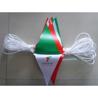 Polyester Bunting Triangle Pennant Banner Small Size Installed At Heavy Duty Rope Manufactures