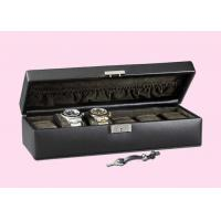 Black Red Glossy Painting Personalized Wooden Watch Box With Metallic Lock Manufactures