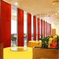 Banquet Hall Acoustic Folding Wooden Partition Wall with Aluminum Track Manufactures