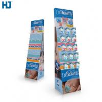 CMYK Color Cardboard Display Shelves Customized Hooks Retail display  Baby Products cardboard display stand Manufactures