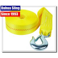 Buy cheap Heavy Duty Boat Winch Strap With Safety Hook , Nylon Winch Strap Replacement from wholesalers