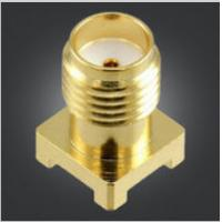 High Mechanical Strength Pcb Mount Sma Connector 50 Ohm Impedance ISO9001 Manufactures