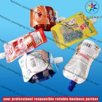juice spout pouch packaging with bottom gusset Manufactures