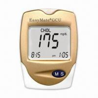 Cholesterol Meter with 14 to 40°C Operating Temperatures, Measures 88 x 64 x 22mm Manufactures