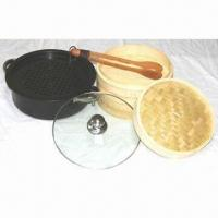 7-piece wok set, includes bamboo tongs Manufactures