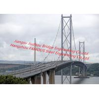 Concrete Deck Steel Truss Suspension Bridge Cable Stayed With Rock Anchor Pedestrians Vehicle Dual Support Manufactures