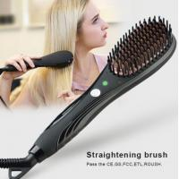 PTC Fast Heating Element Electric Hair Straightener With Temperature Control Brush That Straightens Hair Manufactures
