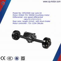Factory Price Electric Car Rear Axle motor kit Brushless 2000w Dc Motor 60v 30tube controller Manufactures