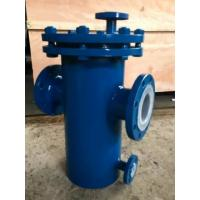 Cheap Carbon Steel Basket Water Meter Strainer Flanged End Connect With PTFE Lined for sale