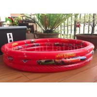 Triple Tubes Round Kids Inflatable Swimming Pools PVC Tarpaulin Cute Cartoon Manufactures