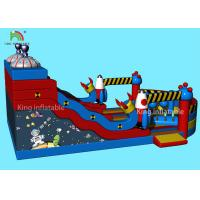 Customized Alien Space Theme Inflatable Dry Slide Kids Jumping Castle For Party Manufactures