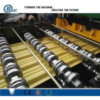 Aluminium Zinc Coated Steel Roof Roll Forming Machine , Glazed Steel Tile Roll Forming Machine Manufactures