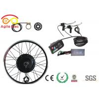 Durable Gearless Electric Bike Hub Motor Kit 48V 1000W With LED Display