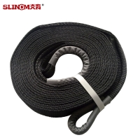 Polyester Towing Winch Extension Strap 4WD Snatch Strap Manufactures