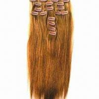Human Hair Clip Wefts, Available in Silky Straight/Curly Styles and Various Sizes/Colors Manufactures