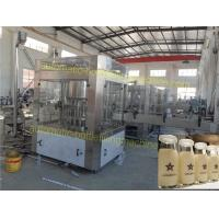 China Soybean Automatic Milk Filling Machine Compact Structure 6 Head Liquid Filling Machine on sale