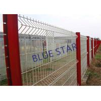 Pvc Coated Welded Wire Mesh , Gal Curved Wire Mesh Fence Panels 0.5m - 3m Wdth Manufactures