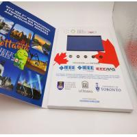 Rechargeable Flip Book Video brochure / booklet , lcd invitation card with usb Manufactures