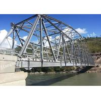 Single Lane Prefabricated Single Span Truss Bridge High Strength Q345b Material Manufactures