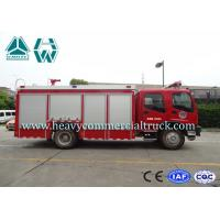 Isuzu 6 Tons Single Row Fire Fighter Car Customized Design 4X2 5000L