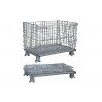 Buy cheap Long Lasting Foldable Stackable Wire Mesh Container Metal Bin Storage Cage from wholesalers