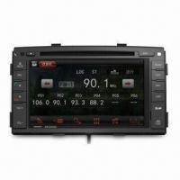 In-dash DVD Player with Bluetooth and Navigation, Ideal for Kia and Apple's iPod/iPhone/iPad Manufactures