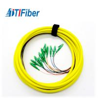 Singlemode 9/125 Fiber Pigtails Patch Cords LC APC Connector 3 Years Warranty Manufactures