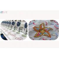 1000SPM Flat Bed Dual Sequin Mixed Embroidery Machine for Tee Shirt / Cap Manufactures
