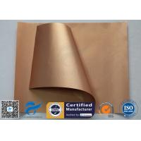 Easy Clean Non Stick Silicone Baking Mat Food Grade Copper PTFE Coating Manufactures